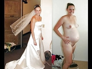 blonde amateur BRIDES Dressed & Undressed